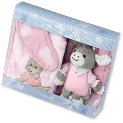 Sterntaler® Spieluhr Emmi Girl, (3-tlg), mit Waschhandschuh und Lätzchen