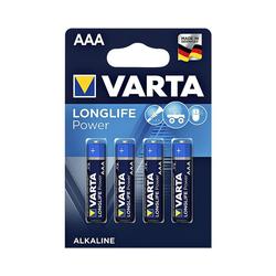 VARTA LONGLIFE Power Batterie, (4 St), AAA, mit langer Lebensdauer