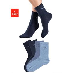 H.I.S Socken (4-Paar) ohne einschneidendes Bündchen blau 35-38