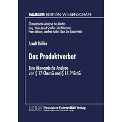 Das Produktverbot als Buch von Arndt Rölike