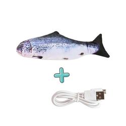 Gotui Hüpftier, Elektrische Simulation Fisch Spielzeug,Lachs,Katzenspielzeug,Wasserspielzeug,Kauspielzeug