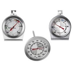 Digital in Silber Fleischthermometer K/üchenprofi Bratenthermometer Profi Edelstahl