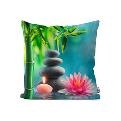 Kissenbezug, VOID (1 Stück), Spa Entspannung Therapie Kissenbezug Spa Entspannung Therapie Wasser Lotus Saun