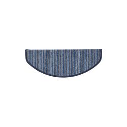Stufenmatte Rom, Kubus, Halbrund, Höhe 4 mm blau Halbrund - 23 cm x 65 cm x 4 mm