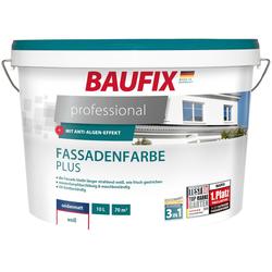 Baufix Fassadenfarbe professional, 10 Liter, weiß