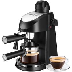 aicook Espressomaschine, mit Milchaufschäumer Espresso Automat Kaffeemaschine Kaffee Mokka