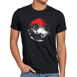 style3 Print-Shirt Herren T-Shirt Poke Death star go ball todesstern wars poke-mon krieg sterne all M