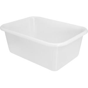 SCHNEIDER Teigwanne, rechteckig, weiß, Eckige Kunststoffwanne für lange, kühle Teigreifung, Maße: 440 x 320 x 155 mm, 12 l