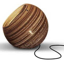 think paper Tischleuchte Globe 290, Wohnleuchten aus Papier, Hänglampe, Hängleuchte aus Pappe, stylische Papierleuchten