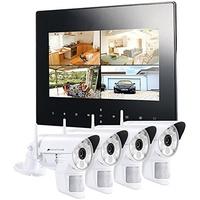 VisorTech Digitales Überwachungssystem DSC-720.mc inkl. 4 IP-Kameras weiß