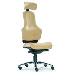 ZERO O1 - High End Bürostuhl Creme Leder