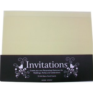 Paperstate Einladungskarten, Design, Creme, 10 Blatt