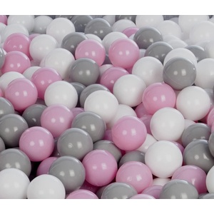 Velinda 300 Bälle für Bällebad/Bällezelt/Kinderpool Spielbälle Kinderbälle O7cm (Farbe der Bälle: Weiß,Rosa,Grau)