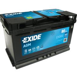 Exide EK800 AGM-Batterie 80Ah