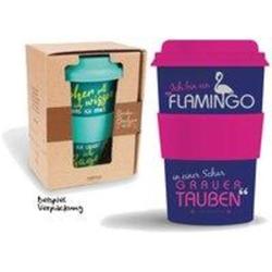 Bamboo Becher to go Ich bin ein Flamingo... 400 ml für Kaffee/Tee