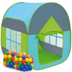 Bällebad Zelt 200 Bälle Kinderzelt Spielzelt 90x90x110cm Baby Bällchenbad Blau