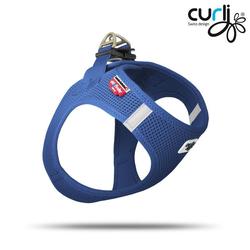 Curli Vest Geschirr Blau 2XS