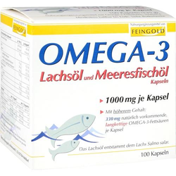 OMEGA-3 Lachsöl und Meeresfischöl Kapseln 100 St