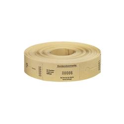 Wolf & Appenzeller Garderobenmarken W&A 1 500 gelb Nr.675002 Rolle