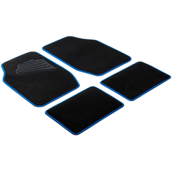 WALSER Autoteppich Matrix, 4-tlg. schwarz