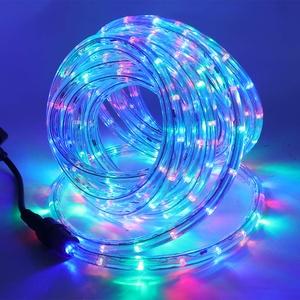 XUNATA 220V-240V LED Lichterschlauch Licht Leiste 36LEDs/m IP65 Wasserdicht Schlauch Seil Lichter für Innen Außen Garten Party Weihnachten Deko(Mehrfarbig,1M)
