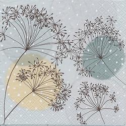"""Papierservietten """"Pusteblumen und Kreise"""", 33 x 33 cm, 20 Stück"""