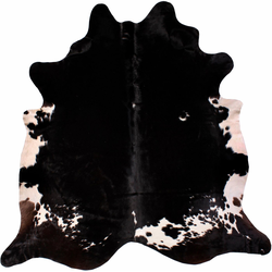 Fellteppich Rinderfell 4, LUXOR living, tierfellförmig, Höhe 3 mm, echtes Rinderfell 130 cm x 190 cm x 3 mm