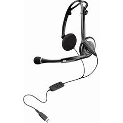 Plantronics Headset 400 DSP faltbares Digital-USB-Stereo-Headset schwarz