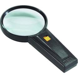 Taschen-Leuchtlupe 75mm 5-fach schwarz