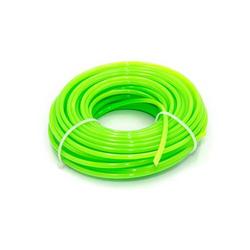 vhbw Trimmer-Faden 3mm grün 15m passend für Rasentrimmer und Motorsensen z.B. Bosch, Einhell, Gardena, Husqvarna, Makita, Stihl, Wolf Garten