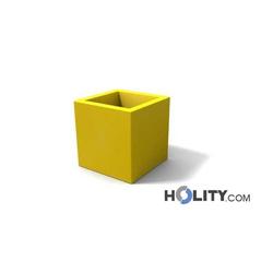Viereckige Vase aus Polyethylen mit Licht-Option h12706