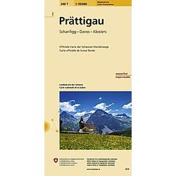 Landeskarte der Schweiz Prättigau - Buch