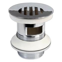 Ablaufgarnitur mit Sieb für Waschbecken - mit Überlauf - Länge 60 mm
