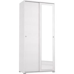 Garderobenschrank Slide Spiegel mit Spiegel weiß