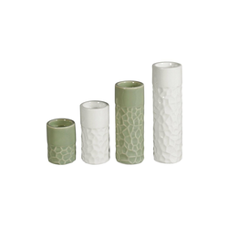 HTI-Living Teelichthalter Teelichthalter Porzellan 4er Set (4 Stück)