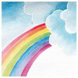 Linoows Papierserviette 20 Servietten, Regenbogen in Pastell, Künstler, Motiv Regenbogen in Pastell