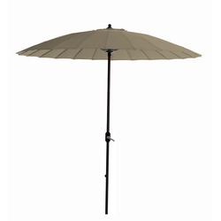 GMD Living Sonnenschirm MANILLA, dekorativer Stocksonnenschirm mit 16 Fiberglas Speichen braun