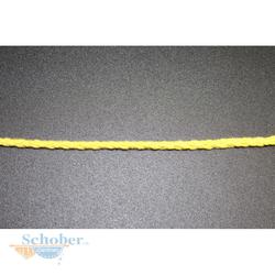Kordel Schnur Flechtkordel gelb, Reststück 14 m