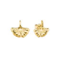 AMOR Damen Ohrstecker 'Ginkgo' goldgelb, Größe One Size, 5044617