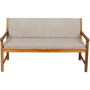 Bankauflage Für Hollywoodschaukel Set Glatt Sitzkissen + Rückenlehne FK5 (100x40x50, Beige)