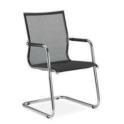 LD Seating PLUTO Freischwinger Konferenzstuhl Netz schwarz oder weiß