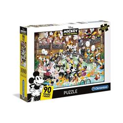 Clementoni® Puzzle Puzzle 1000 Teile Disney 90 Jahre Mickey, Puzzleteile