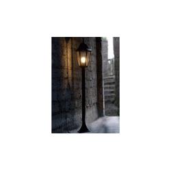 Licht-Erlebnisse Außen-Stehlampe BRISTOL II Stehleuchte Schwarz für außen rustikal Gartenlampe Lampe