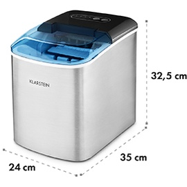 Klarstein Eismaschine LED 12kg je 24h 2.1l Edelstahl schwarz