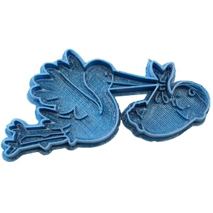 Cuticuter Anlässe Ausstechform Storch, blau, 8 x 7 x 1.5 cm