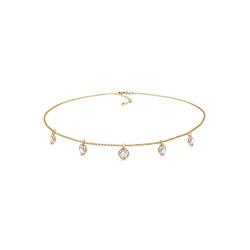 Elli Collierkettchen Choker mit Swarovski® Kristalle Silber vergoldet