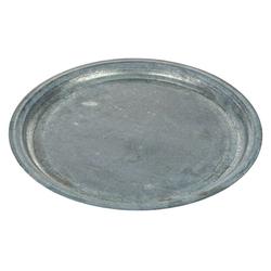 matches21 HOME & HOBBY Blumentopf Zinkteller Teller als Deko- oder Servierteller Zink Ø 44 cm (1 Stück) 44 cm x 3 cm