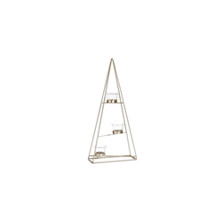 Casa Nova Teelichthalter Pyramide in gold, 22 x 48 x 9 cm