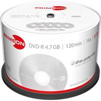 PrimeOn 2761204 DVD-R 50 St. Spindel Silber Matte Oberfläche