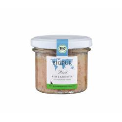 Biopur Rind, Reis, Karotten Bio-Hundefutter im GLAS